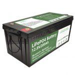 ਗਰਮ ਵਿਕਰੀ 2.56KWh lifepo4 batteri 12v 200Ah 6000 ਸਾਈਕਲ ਆਰਵੀ ਬੈਟਰੀ
