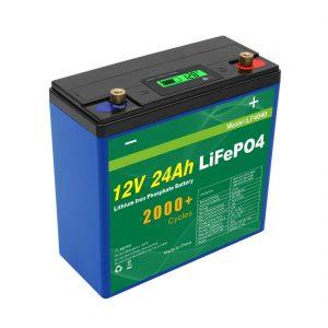 ਸੋਲਰ ਦੀਪ ਚੱਕਰ 24v 48v 24ah Lifepo4 ਬੈਟਰੀ ਪੈਕ UPS 12v 24ah ਬੈਟਰੀ