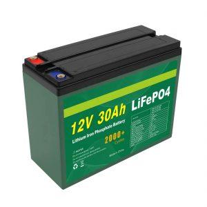 OEM ਬੈਟਰੀ ਰਿਚਾਰਜਯੋਗ 12V 30Ah 4S5P ਲਿਥੀਅਮ 2000+ ਡੀਪ ਸਾਈਕਲ Lifepo4 ਸੈੱਲ ਨਿਰਮਾਤਾ