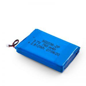 ਲਿਪੋ ਰੀਚਾਰਜਬਲ ਬੈਟਰੀ 502236 3.7V 380mAH / 3.7V 760mAH /7.4V 380mAH